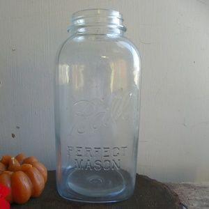 "Vintage ""4"" Half Gallon BALL Mason  Jar"